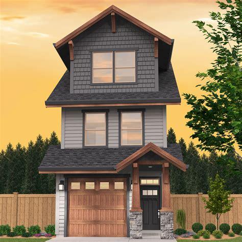 skinny craftsman house plan  optional adu ms architectural designs house plans