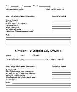 free vehicle maintenance forms With technical data package template