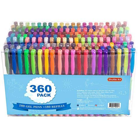 pack gel pens set shuttle art  colors gel  set