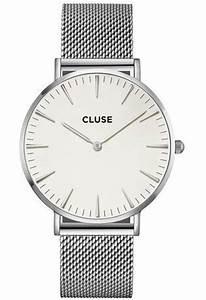 Montre Cluse Histoire D Or : montre cluse la boh me mesh silver white cl18105 argent montres and co ~ Nature-et-papiers.com Idées de Décoration