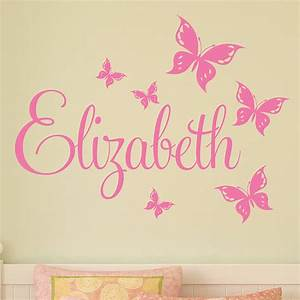 personalised butterfly wall stickers by parkins interiors With butterfly wall decals