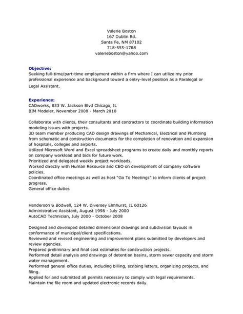 Personal Injury Clerk Resume by Resume Entry Level And Description On