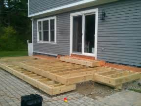 Free Standing Deck Framing by Cantilever Deck Construction Plans House Design And