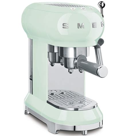 Smeg coffee machines are available in various styles and colours and coordinate perfectly with other appliances in the same aesthetic line, rounding off your kitchen environment in style. Smeg ECF01PGUK Freestanding Retro Espresso Coffee Machine ...