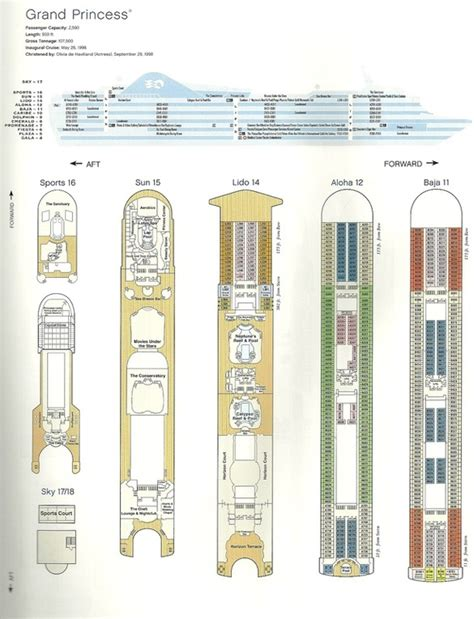 Princess Deck Plan Pdf by Deck Plan Grand Princess