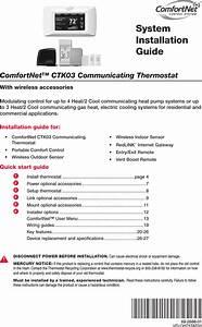 Honeywell Thx9001r01 Thermostat Thx9001r01 User Manual Manual