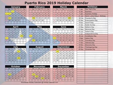 puerto rico holiday calendar
