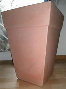Pflanzkübel Eckig Kunststoff : 2x pflanztopf pflanzk bel kunststoff terracotta frostfest eckig gro ~ Whattoseeinmadrid.com Haus und Dekorationen
