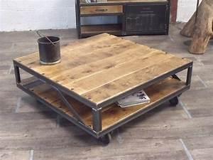 Grande Table Basse Carrée : grande table basse carr e table basse contemporaine design somum ~ Teatrodelosmanantiales.com Idées de Décoration