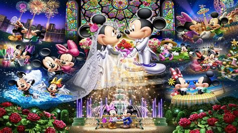 mickey mouse  minnie mouse wedding disney puzzle love