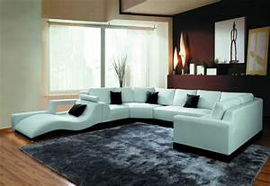 2264b modern white leather sectional sofa With modern sectional sofa
