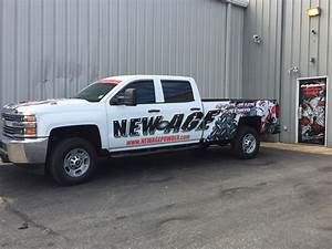 vehicle wraps graphics new age powder coating With custom vehicle lettering