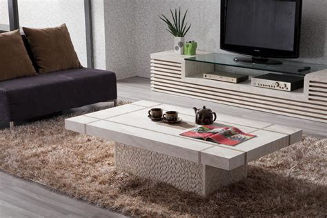 Living Room Coach by Furniture Trendy Rectangle White Granite Coffee Tables