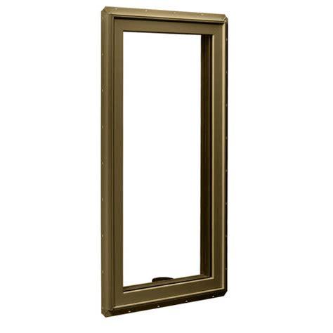 crestline  vinyl clad wood casement window wzo   glass  hinged  menards