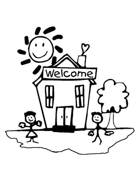 disegno  benvenuti  scuola da colorare  bambini