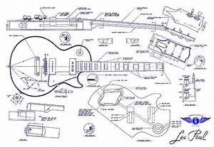 Guitar Les Paul Blue Print