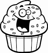 Cupcake Outline Cupcakes Cartoon Coloring Drawing Clipart Pages Amazing Clipartmag Drawings Gclipart Paintingvalley sketch template