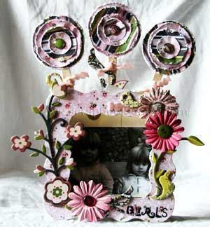 Altered Girls Frame Home Decoration Scrapbook Ideas