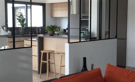 configurateur de cuisine réalisations cuisine en bois avec verrière de cuisines