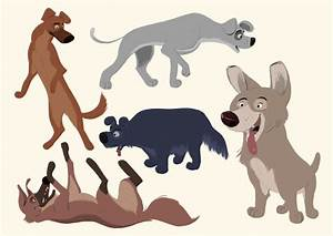 Borja Montoro Character Design: Some dogs
