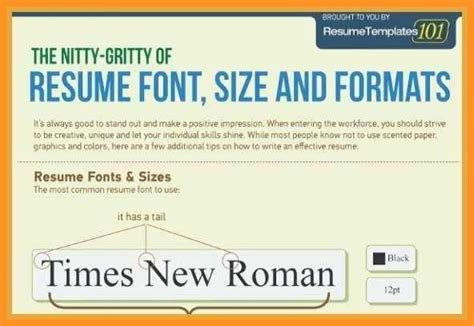 Standard Font For Resume by 14 15 Standard Resume Font Size Southbeachcafesf