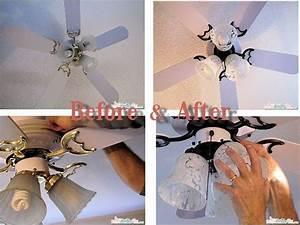 Home diy ceiling fan makeover
