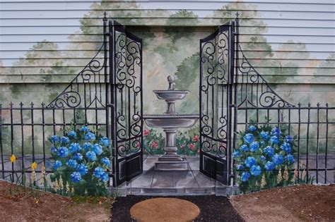 Outside Patio Bar Ideas by Exterior Wall Mural Traditional Exterior Boston By