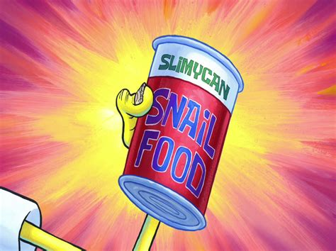 spongebob cuisine slimycan snail food encyclopedia spongebobia the