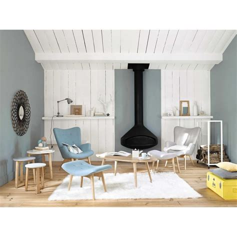 fauteuil vintage bleu iceberg maisons du monde deco
