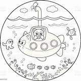 Submarine Sommergibile Coloritura Coloration sketch template