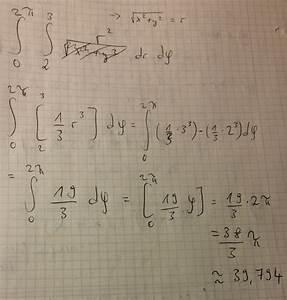 Doppelintegrale Berechnen : doppelintegral eine fl che wird in der xy ebene durch ~ Themetempest.com Abrechnung