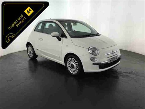 Fiat Financial Services by Fiat White 2012 500 Lounge 1 Prev Owner Service History