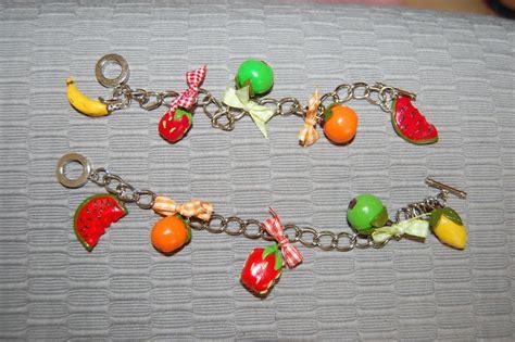 bracelet de fruits cr 233 ation de gourmandise en p 226 te fimo