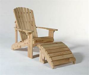 adirondack chair with slide out footrest plans » woodworktips