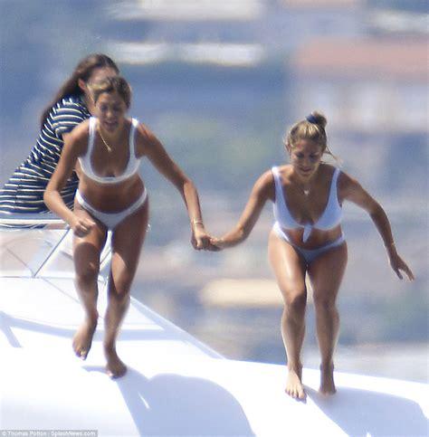 sylvester stallone bikini sylvester stallone s bikini clad daughters on yacht in