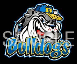 Baseball Bulldog Mascot Clip Art