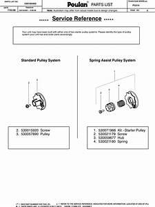 Poulan P3314 Parts Diagram