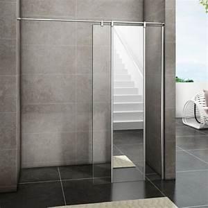Miroir De Douche : aica paroi de douche l italienne 120x200cm avec miroir en verre anticalcaire aica sanitaire ~ Nature-et-papiers.com Idées de Décoration
