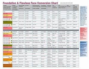 Mary Foundation Color Chart 2018 Makeup Foundation Conversion Chart Mugeek Vidalondon