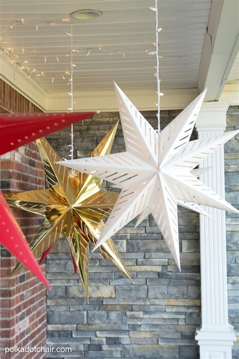 hanging star christmas lights hanging star lanterns a christmas front porch decorating