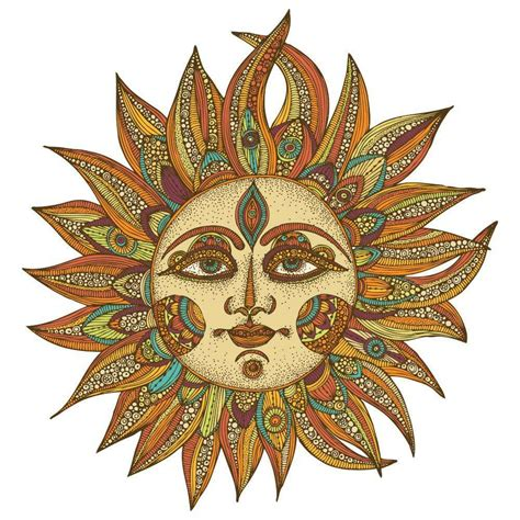Celestial Sun Wall Decal by Valentina Harper