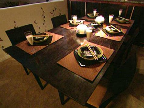 how to build an expandable dining room table hgtv