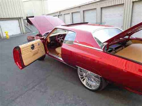 purchase used 1973 chevrolet impala candy apple red paint