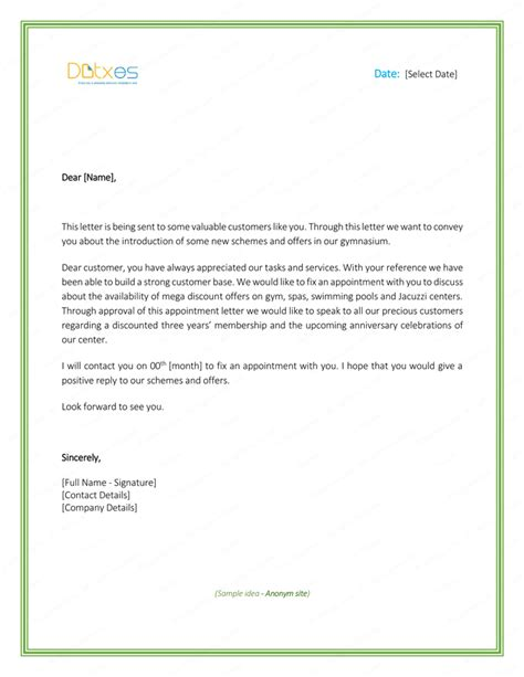 job appointment letter sample letter templates write