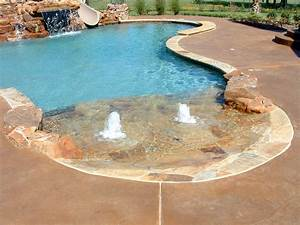 pools gallery With beach entry swimming pool designs