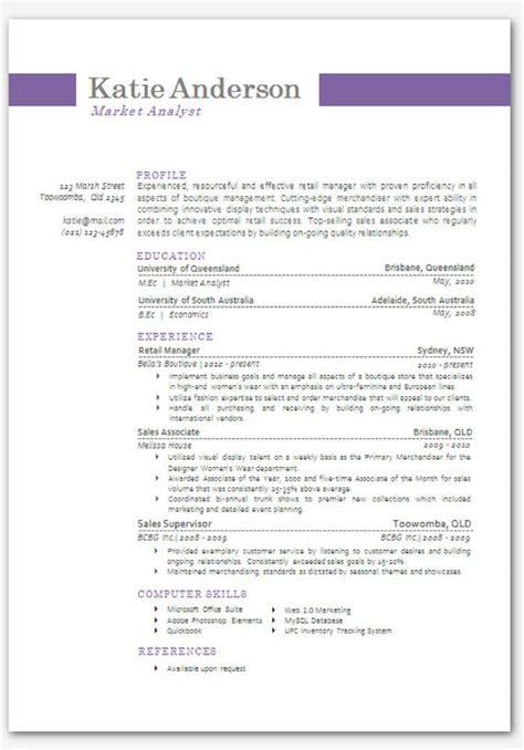 modern microsoft word resume template katie  inkpower