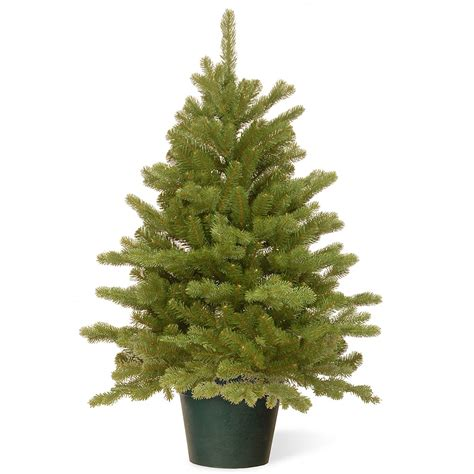 4ft hton spruce potted feel real artificial christmas