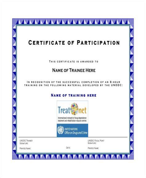 certificate  participation templates word psd ai