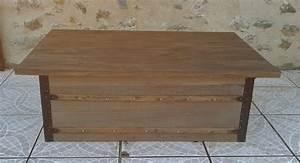 Table Basse Malle : o 39 bois recycl table basse r alis e partir d 39 un ~ Melissatoandfro.com Idées de Décoration