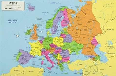 europe continent europe map list  countries